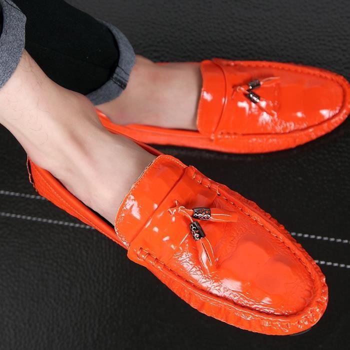 Solide Couleur des hommes Slip-on Skid résistance Chaussures plates