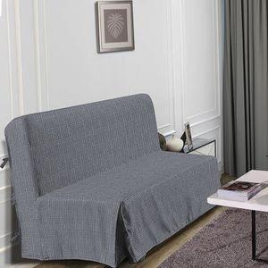 HOUSSE DE CANAPE HOMETREND Housse de BZ Graphite - 140 x 200 cm - N