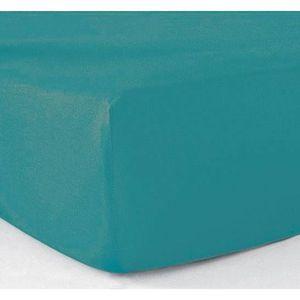 DRAP HOUSSE Drap-housse 180x200 - 100% coton 57 fils - Turquoi