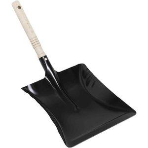 BALAI - PELLE pelle en métal, noir, avec une manche en bois