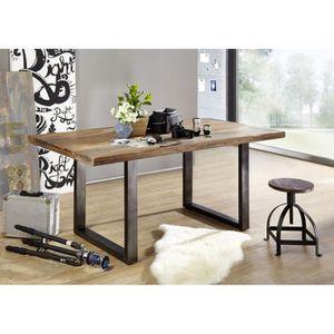 TABLE À MANGER SEULE Table à manger 200x100cm - Fer et Bois massif de m