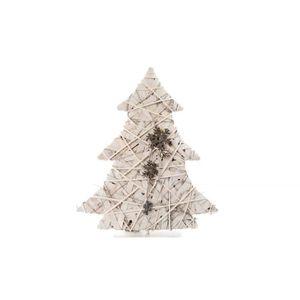 SAPIN - ARBRE DE NOËL Sapin de Noël Artificiel lumineux en Osier 60x68cm