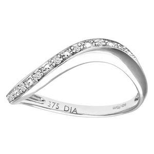 BAGUE - ANNEAU Revoni Bague alliance Diamant Or Blanc 375° Femme:
