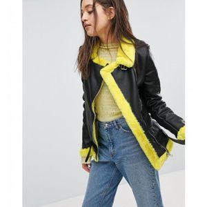 Veste jean jaune bershka