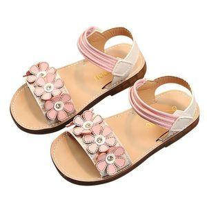 90f5d4416206f0 Banconre®Enfants Kid Girls Fleur Non-Slip Princesse Roman Sandales ...