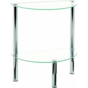 TABLE D'APPOINT Table d'appoint  en tube d'acier  Verre trempé …