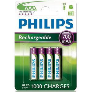 PILES 4 Piles Rechargeable  AAA