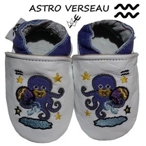 CHAUSSON - PANTOUFLE CHAUSSONS CUIR ASTRO BEBE 12-18 MOIS