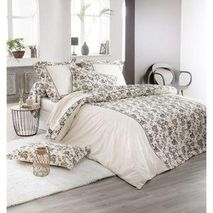 PARURE DE DRAP Parure Tocade coton motifs floraux DP~180x290+DH~9
