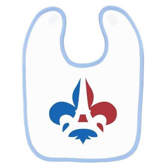 8c126fa191a6 Bavoir bébé imprimé France drapeau lys bleu - Achat   Vente bavoir ...