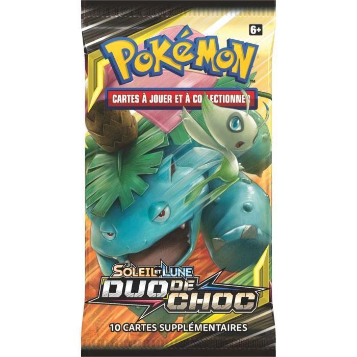 POKEMON Soleil et Lune 9 - Duo de choc - Booster SL09 - 10 cartes Pokémon - Modèle aléatoire