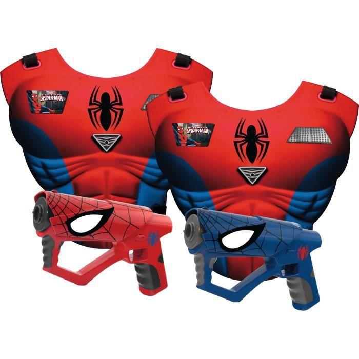 IMC - Mega laser set Spider-man - Jeu d'action pour 2 joueurs avec Technologie infrarouge - Garçon - A partir de 3 ans - Livré à l'unitéJEU DE SOCIETE - JEU DE PLATEAU