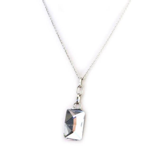 Altesse [M7190] - Collier acier Calypso blanc