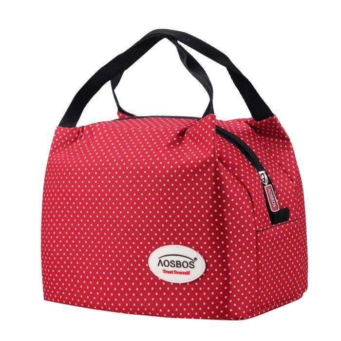 Grand Lunch Pour Femme 6 Portable Assez Aosbos Isotherme Bag 1 Personne Sac 5l Déjeuner Repas QxthrCBsd
