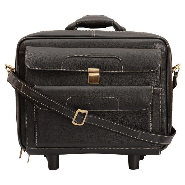 en cuir pour hommes 26,74 L Noir 12 « » Laptop Roller Case RJ97W