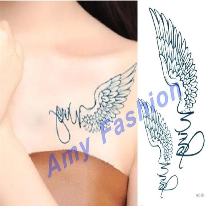 Aile Ange Tatouage ailes d'ange tatouages beauté femmes tatouage temporaire
