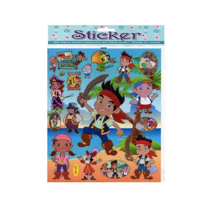 Stickers jake et les pirates achat vente stickers jake - Jake et les pirates ...