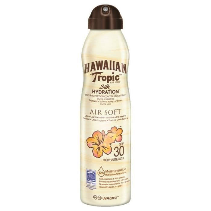 SOLAIRE CORPS VISAGE HAWAIIAN TROPIC Brume protectrice Air Soft Silk Hy