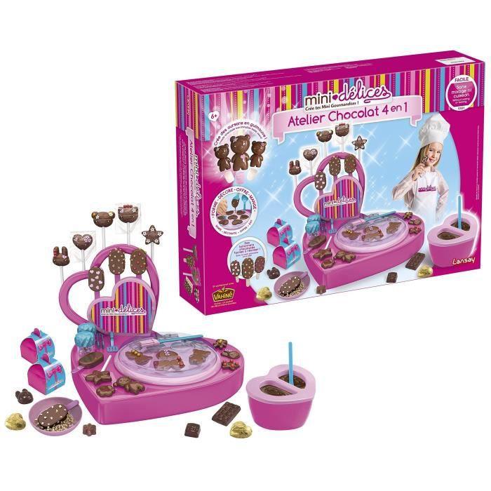 lansay mini d lices atelier chocolat 4 en 1 achat vente kit de cuisine cr ative cdiscount. Black Bedroom Furniture Sets. Home Design Ideas