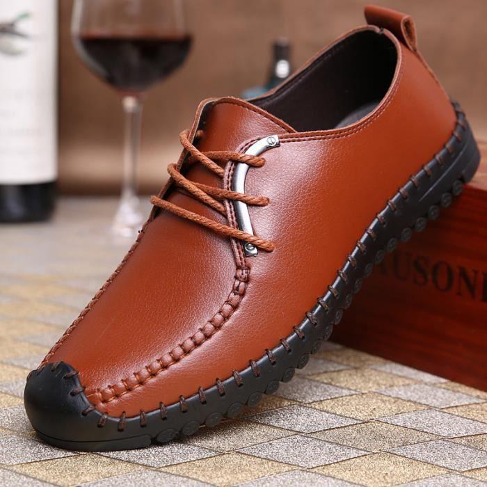 Chaussures pour hommes occasionnels Marron