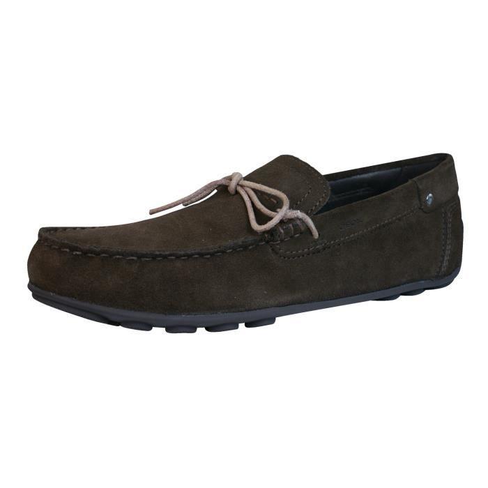 Geox U Giona E Hommes cuir Chaussures - Mocassins Marron 9 5yusCM1o7