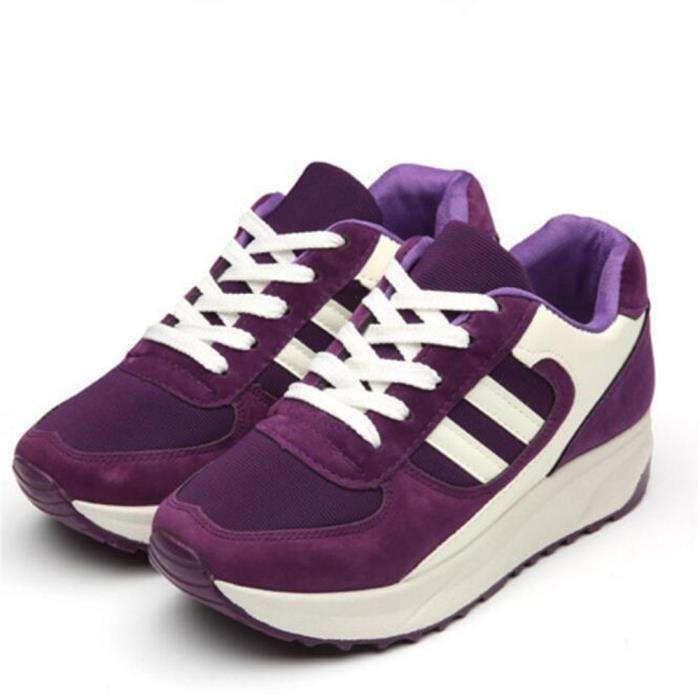 Ta Basket Mode Antidérapant Talons De Plus Chaussures Hauts Sneaker Femmes Dssx085violet36 Respirant Marque Nouvelle Luxe xwX4IO5q