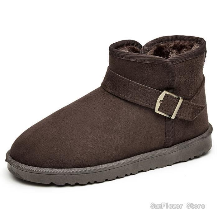 Produit Chaussures Design Bottes Homme Homme Marron Neige New pour Gardez chaudes Hiver Mode chaussures 0a0F6