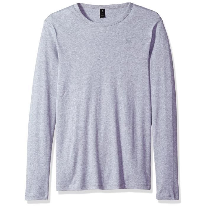 1oy63u Taille L Nmnv80wo Homme Star Raw Manches Haut G Gris Longues vYbgyf67