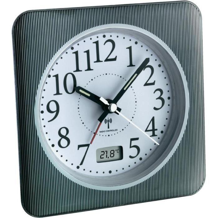 horloge radio pilotee avec temperatures achat vente pas cher. Black Bedroom Furniture Sets. Home Design Ideas