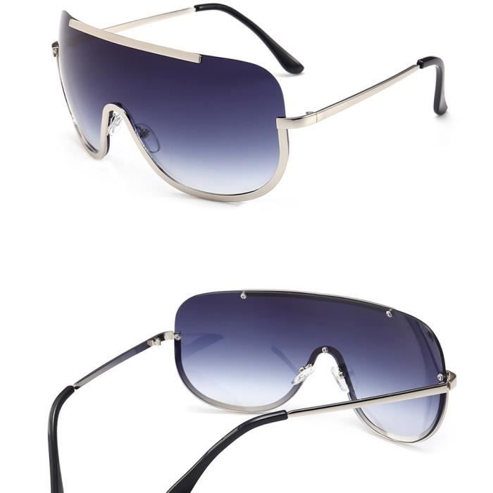 An-1010 Femmes Vintage Retro Lunettes Mode Unisexe Aviator Miroir objectif Lunettes de soleil DB bleu fonce