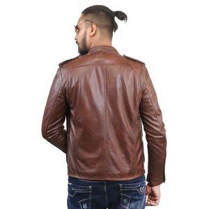 Veste Zip Brown Side HY9BL cuir coréen L Taille en hommes Style tRwqTxXI