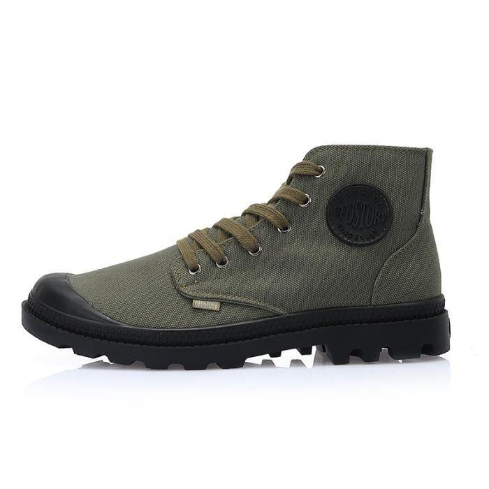 Toile Chaussures Respirantes Haut De Hommes Bottes wTR87t