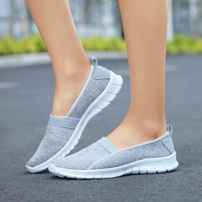 Slip Sports Breathable on Casual Gris Shoes Fashion 5632 Soft xz Femmes Lazy Sole x0qXwWTtp