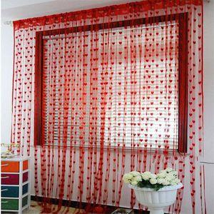 latest rideau ligne de coeur cordon de gland rideau de porte fen with rideau porte fenetre. Black Bedroom Furniture Sets. Home Design Ideas
