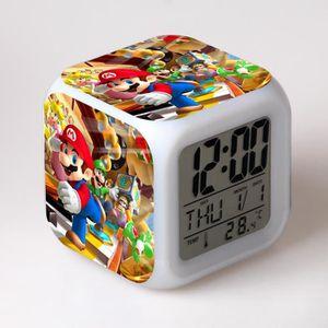 RÉVEIL ENFANT Super Mario Bros les enfants jouet réveil horloge