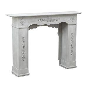 OBJET DÉCORATIF Cadre de cheminée en bois finition gris antique L1