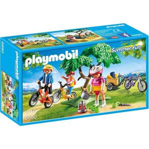 FIGURINE - PERSONNAGE PLAYMOBIL 6890 - Summer Fun -  Cyclistes avec Vélo
