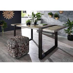 TABLE À MANGER SEULE Table à manger 170x90cm - Fer brut et Bois de mang