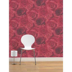 Muriva Madison Papier Peint Motif Rose Rouge Achat Vente Papier