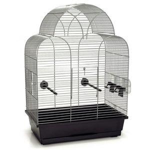 CAGE Cage à Oiseau 'Sonia' Argent 45 x 28 x 63 cm