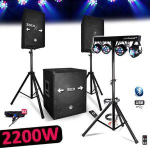 PACK SONO Système Pack Sonorisation BMS1512 Complet 2200W En