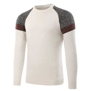 Marque Raglan Rond Homme Manches Luxe Pas Colorblock Cher Col Pull zqtw4a