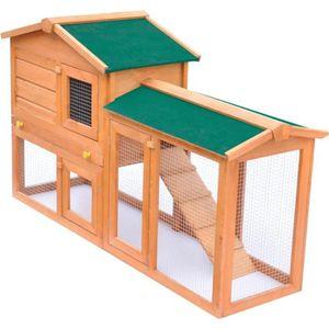 CLAPIER Cage Clapier Extérieur en Bois pour Lapins.