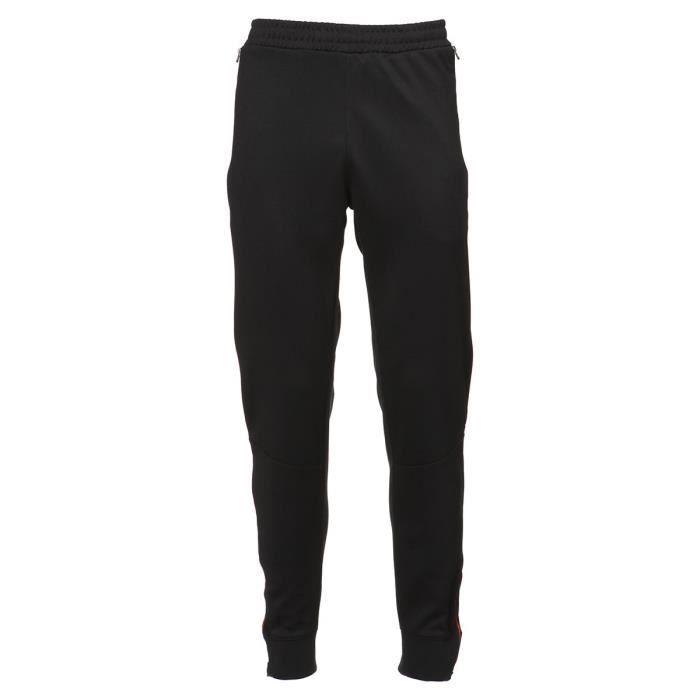 KAPPA Pantalon - Homme - Noir et rouge