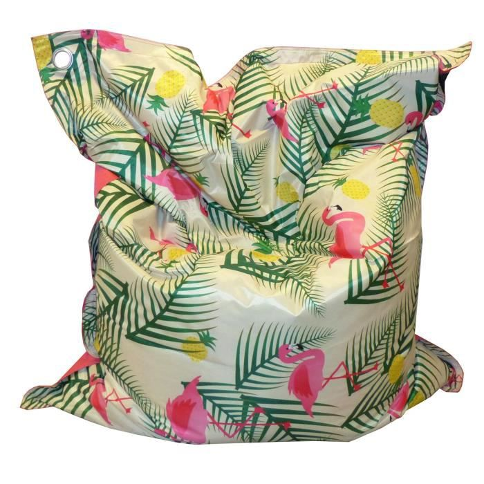 Imprimé Flamingo - 140x180 cm - Toile enduit PVC -1 face imprimée / 1 face unie - Non déhoussablePOUF - POIRE