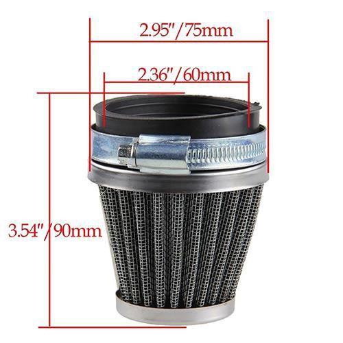 FILTRE A AIR Accessoires de moto Filtre à air 60mm pour entonno