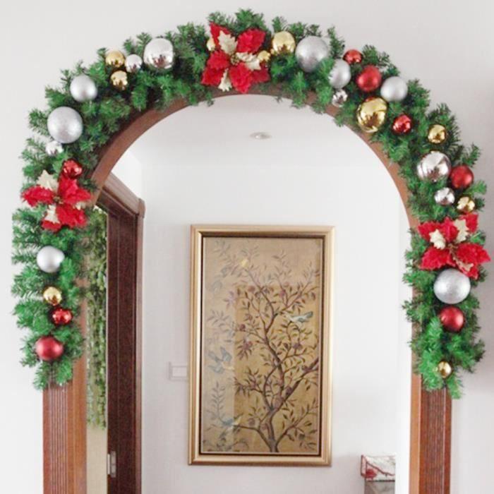 Guirlande noel pour cheminee achat vente guirlande for Decoraciones navidenas para oficinas 2016