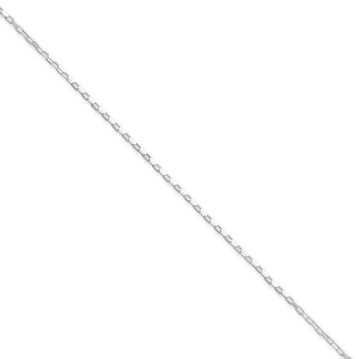 Chaîne en argent Sterling 20 cm - 1,3 mm-Fermoir mousqueton