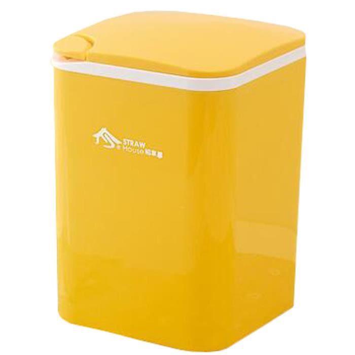Bureau Wastebasket Bureau Corbeille Rangement Cuisine Barrel Poubelle Jaune