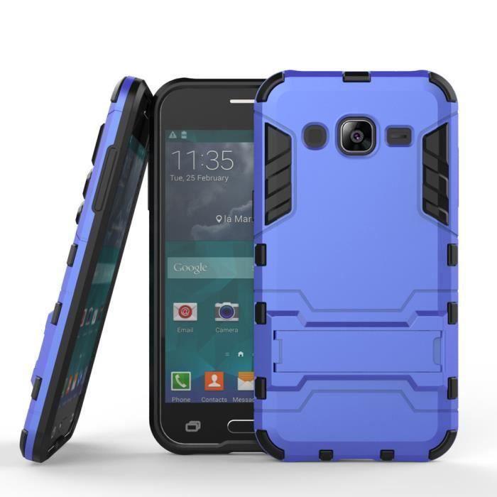 Pour Samsung Galaxy J2 COQUE SM J200F 2 En 1 Hybride Armor Etui Avec